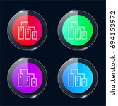ranking four color glass button ...