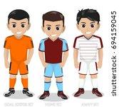 vector character football  ...   Shutterstock .eps vector #694159045