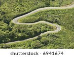 Aerial Of Winding Country Road...