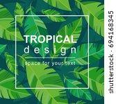 summer tropical banner  poster... | Shutterstock .eps vector #694168345