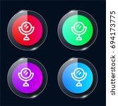 mirror four color glass button...