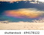 sky beautiful colorful clouds... | Shutterstock . vector #694178122