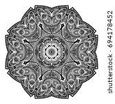 outline mandala for coloring... | Shutterstock .eps vector #694178452