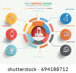 education info graphic design... | Shutterstock .eps vector #694188712