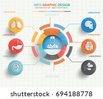 medical info graphic design... | Shutterstock .eps vector #694188778