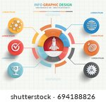 business startup info graphic... | Shutterstock .eps vector #694188826