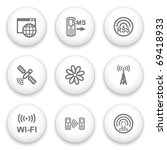 icon with white button 30 | Shutterstock .eps vector #69418933