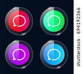 speech bubble four color glass...