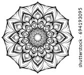 circle lace ornament  round...   Shutterstock . vector #694193095