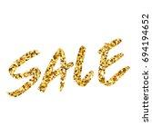 gold glitter text sale.... | Shutterstock . vector #694194652