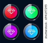 small diamond four color glass...