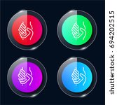 charity four color glass button ...