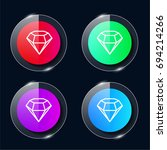 sketch four color glass button...