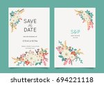 wedding invitation card... | Shutterstock .eps vector #694221118