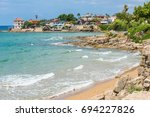 sea view on the beach and a... | Shutterstock . vector #694227826