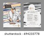 creative menu design. | Shutterstock .eps vector #694233778