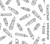 pencil pattern | Shutterstock .eps vector #694237972