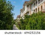green lane park zone. beautiful ... | Shutterstock . vector #694252156