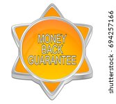 money back guarantee button  ... | Shutterstock . vector #694257166