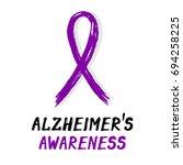 symbolic ribbon   violet  ... | Shutterstock .eps vector #694258225