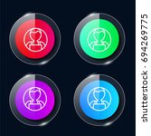 user four color glass button ui ...   Shutterstock .eps vector #694269775