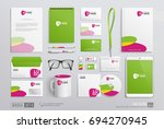 realistic corporate brand... | Shutterstock .eps vector #694270945