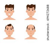 hair stages loss. types of... | Shutterstock .eps vector #694272688