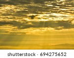 beautiful sunrise mountain on...   Shutterstock . vector #694275652