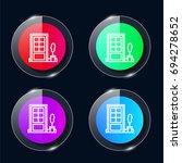 door four color glass button ui ...
