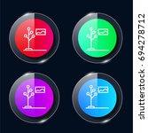 hanger four color glass button...