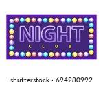 night club vivid banner | Shutterstock .eps vector #694280992