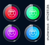braces four color glass button...