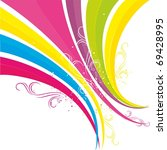 rainbow  colorful banner | Shutterstock .eps vector #69428995