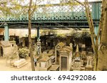 tombs at the montmartre... | Shutterstock . vector #694292086