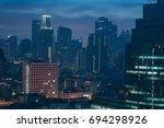 bangkok at night taken from... | Shutterstock . vector #694298926