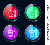 kebab four color glass button...