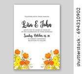 wedding invitation floral card... | Shutterstock .eps vector #694310902
