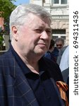 Small photo of MOSCOW, RUSSIA - MAY 08, 2015:Chairman of the Union of Journalists of Russia Vsevolod Bogdanov.