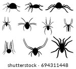 a set of spiders. collection of ... | Shutterstock .eps vector #694311448