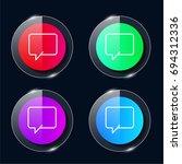 chat four color glass button ui ...