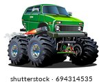 cartoon monster truck.... | Shutterstock .eps vector #694314535