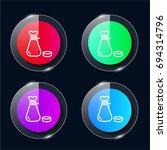 poor four color glass button ui ...