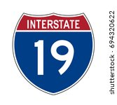 interstate highway 19 road sign | Shutterstock .eps vector #694320622
