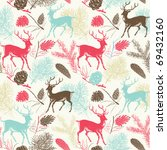 Seamless Background With Deers