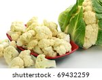 Whole Cauliflower Isolated On...