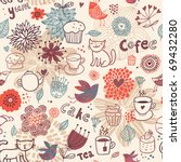 Seamless Pattern With Teacups ...