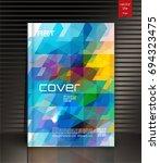 modern vector abstract brochure | Shutterstock .eps vector #694323475