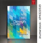 modern vector abstract brochure | Shutterstock .eps vector #694323535