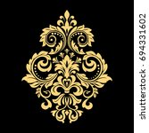 golden vector pattern on a... | Shutterstock .eps vector #694331602