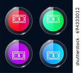dollar bill four color glass...